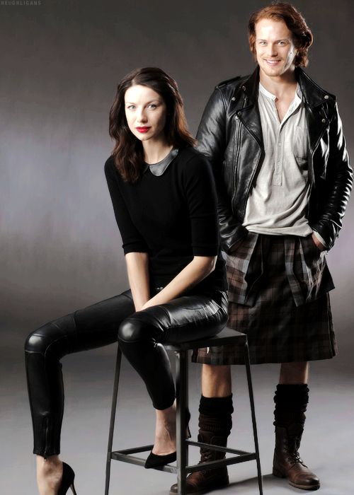 """Catriona Balfe and Sam Heughan --- stars of the new """"Outlander"""" series on Starz"""