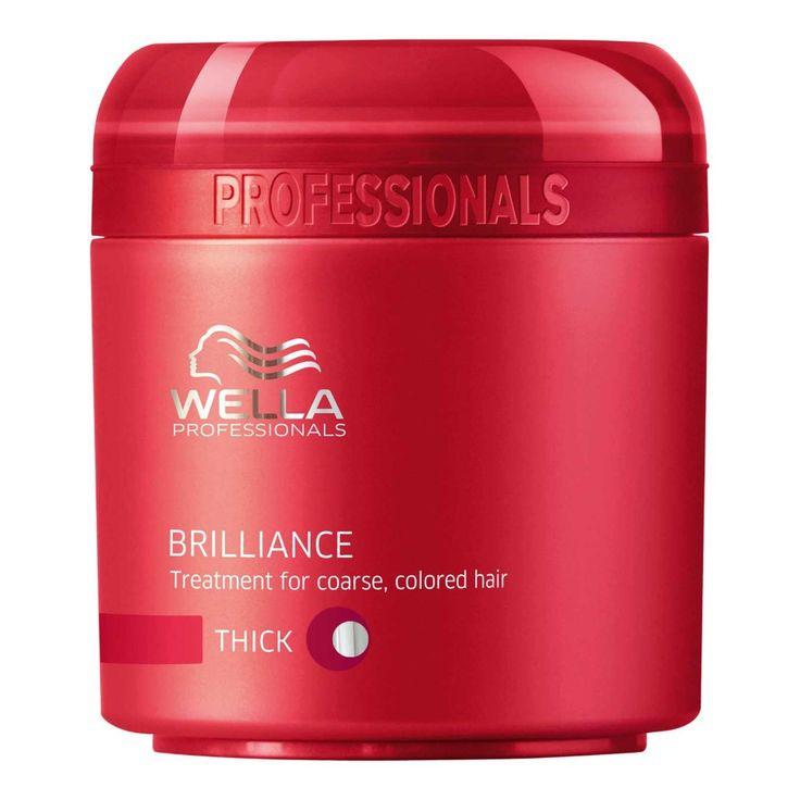 Máscara de Tratamento Wella Brilliance Coarse Cabelos Coloridos 150ml - The Beauty Box