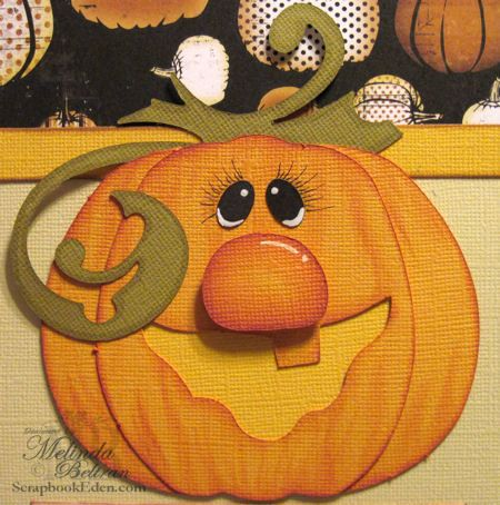 would he not be the cutest pumpkin done on a quilt.Premade Scrapbook Layout Pick of the Patch Pumpkin Paper Piecing