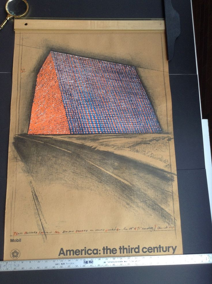 Christo Poster Texas Mastaba Oil Drums project 1975