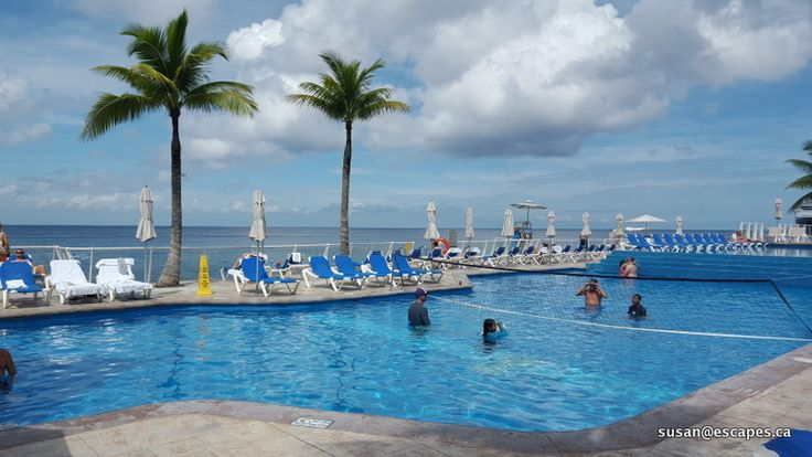 Cozumel Palace, with pools for swimming, games and relaxing