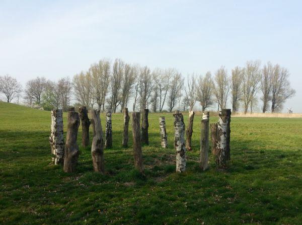 Oneindig Noord Holland / Palencirkel bij het Maalwater in Heiloo Een houten heiligdom uit de prehistorie