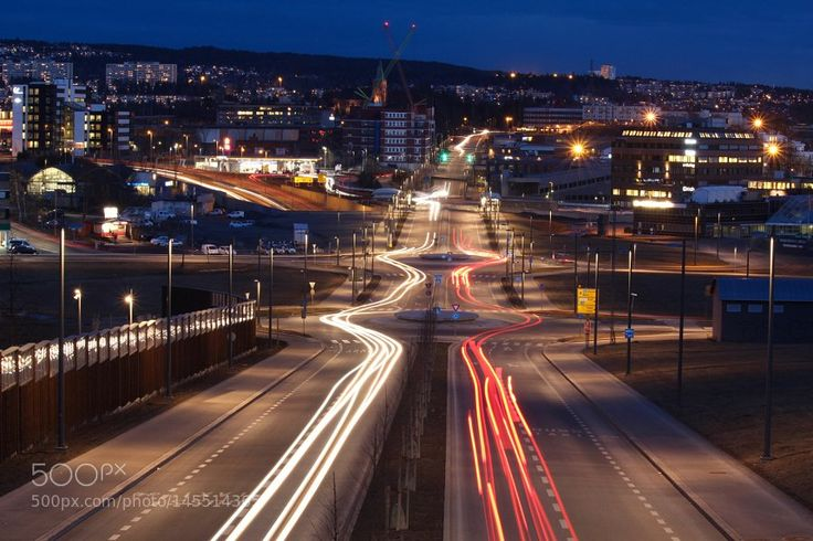 """Dr Vicente Nario on Twitter: """"Traffic - Light trails seen from a bridge over the road at Løren in Oslo, Norway. The last time I was here it was s… https://t.co/5LlUAgciVf"""""""