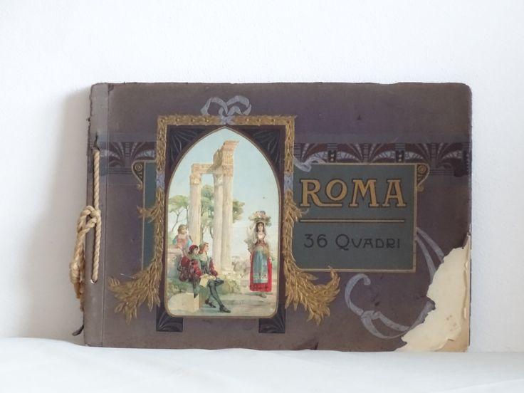 Antique Rome Souvenir, Rome Art Plates, Antique Coffee Table Book by LesTempsPerdus on Etsy https://www.etsy.com/listing/264568811/antique-rome-souvenir-rome-art-plates