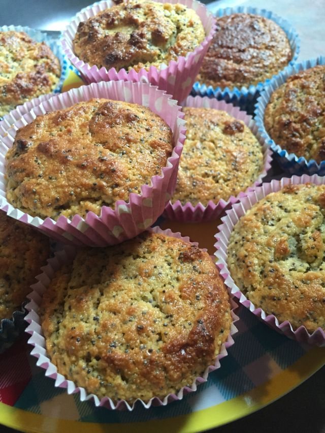 Citroen-maanzaad muffins