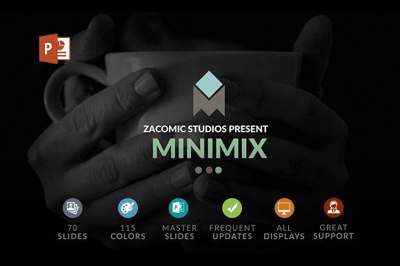 Minimix | Powerpoint Template by Zacomic Studios on @creativemarket