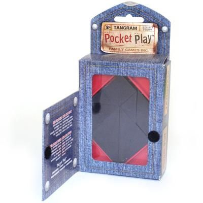Tangram Pocket Play $10.00  #game #stockingstuffer #christmas  I love this game/puzzle hours of fun!
