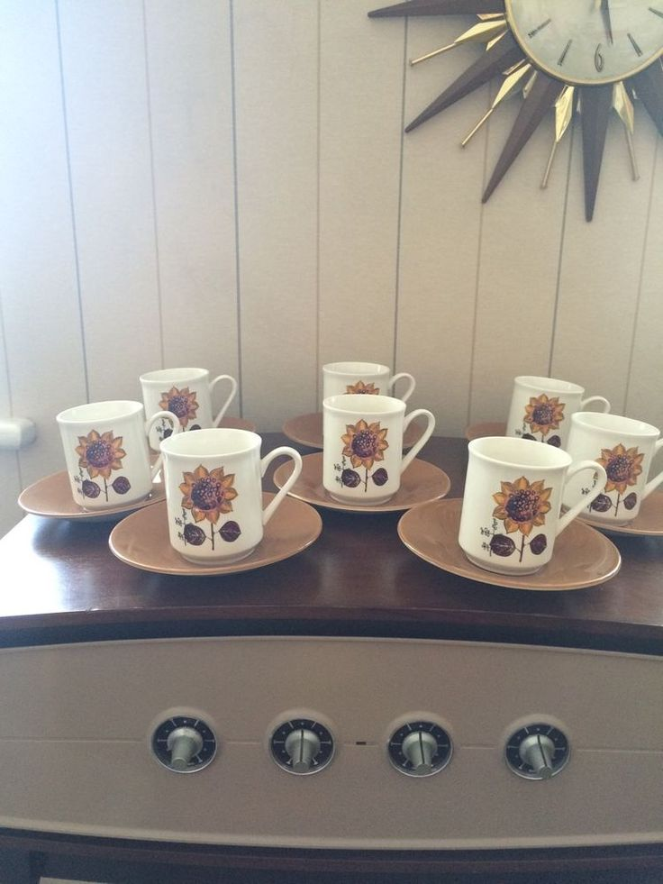 Vintage Retro Espresso Coffee cups Lord Nelson Sunflower | eBay