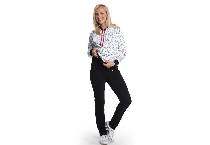 Sugar fekete nadrág - Kismama nadrágok Igazán kényelmes, elegáns sziluettet ad a  fekete Sugar nadrágunk. Ne feledd, ez a típusú nadrág megfelelő kiegészítőkkel, rövid kabátkával, hosszított tunikával a hétköznapokra is tökéletes. Különleges szabása karcsú alakot kölcsönöz, a nadrág aljának visszahajtása a lábakat külön kiemeli. Viselheted elegáns cipővel, egyszerű balerinával, de akár sportcipővel is. Hétköznapi nadrág, de viselheted sportos kiegészítőkkel is - több stílusban használhatod.