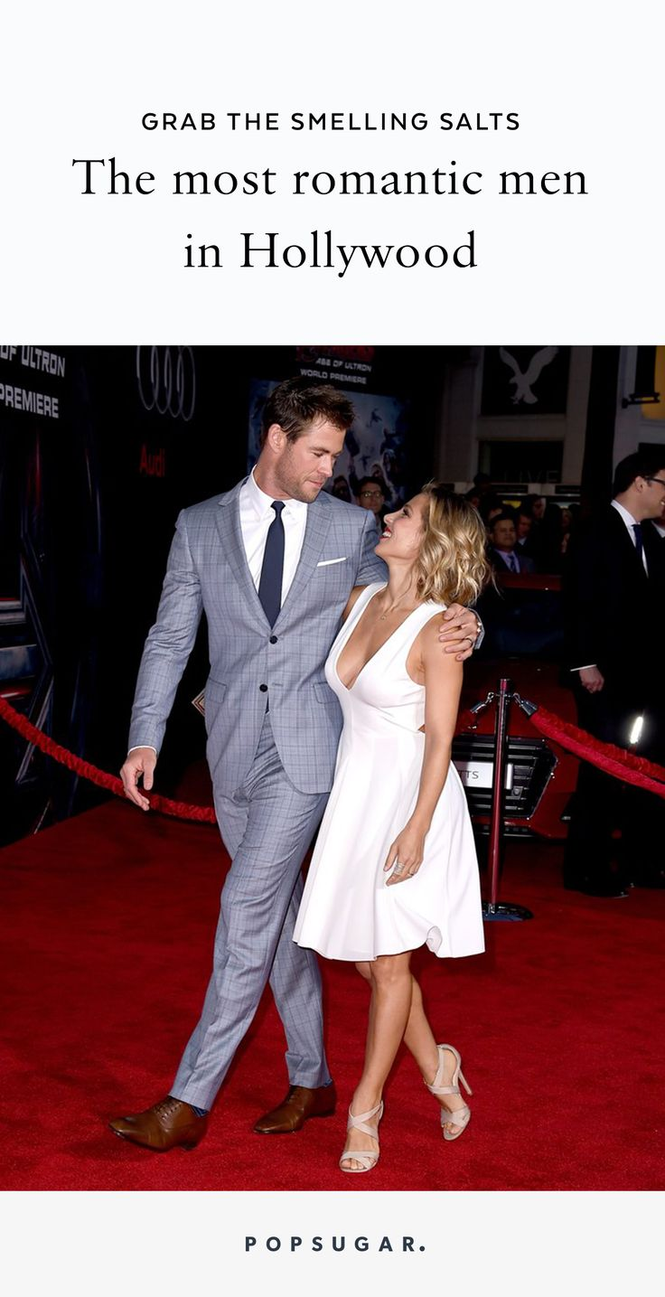 Whether you love or hate Valentine's Day, true love is real and these 24 famous men have the relationships to prove it. From John Krasinski gushing about his gorgeous wife Emily Blunt, to Chris Pratt talking about divine intervention with Anna Faris, to Chris Hemsworth saying he falls deeper and deeper in love with Elsa Pataky — there's a cute quote below to warm your cold, frosty heart.