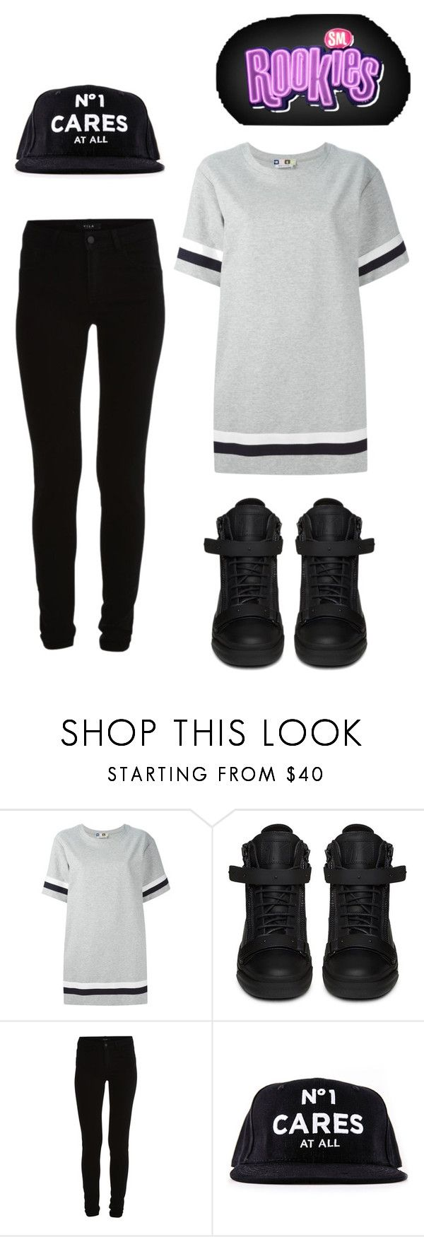 """new sm rookie"" by mh-loves1d ❤ liked on Polyvore featuring MSGM, Giuseppe Zanotti, Vila Milano and Reason"