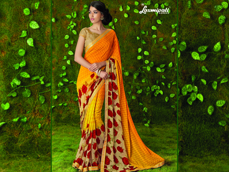 Buy this Exclusive Yellow & Beige Georgette Saree with Rawsilk Golden Blouse along with Satin Printed Lace Border Online from Laxmipati.com in USA, UK, Canada,India. Shop Now! 100% genuine products guaranteed. Limited Stock! #Catalogue #SURMAI Price - Rs. 1362.00 Visit for more designs@ www.laxmipati.com #Sarees #ReadyToWear #OccasionWear #Ethnicwear #FestivalSarees #Fashion #Fashionista #Couture #LaxmipatiSaree #Autumn #Winter #Women #Her #She #Mystery #Lingerie