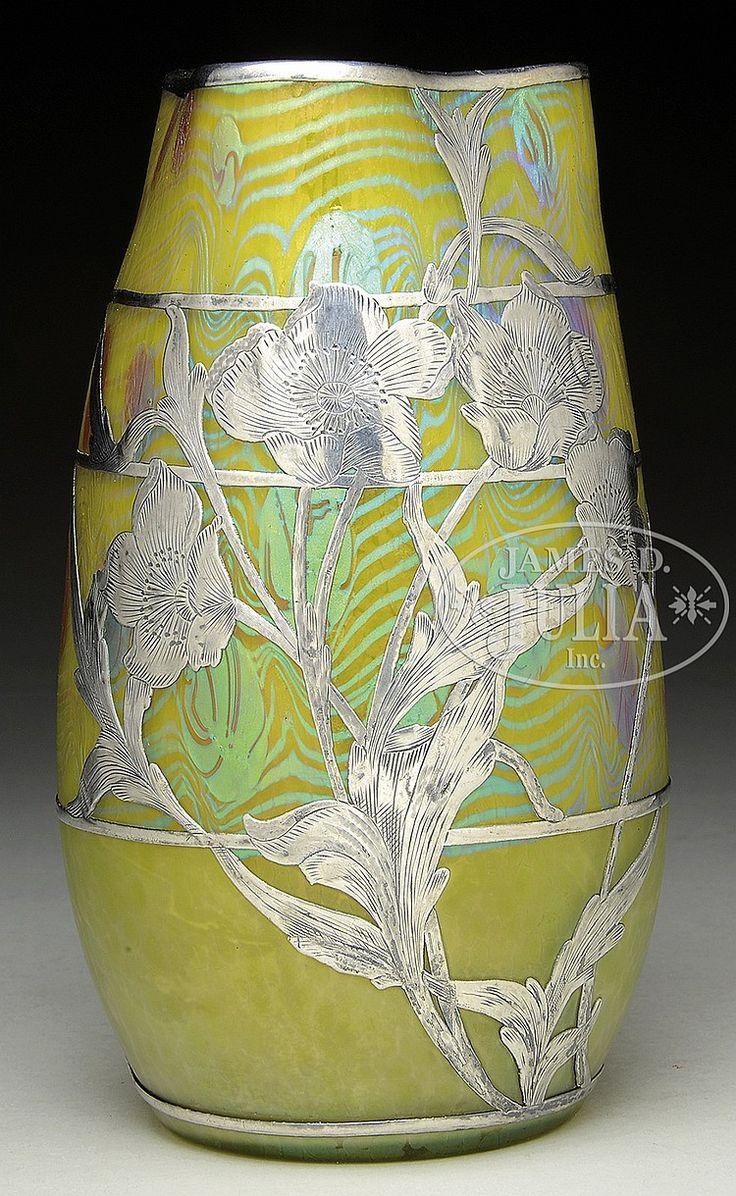 201 best beautiful silver overlay images on pinterest art loetz phaenomen silver overlay vase reviewsmspy