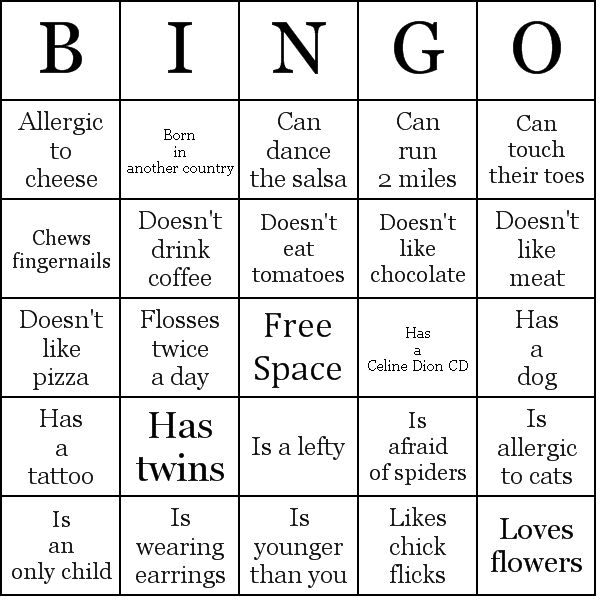 Put together a Human Bingo card to get meeting attendees up and moving while also getting to know their fellow club members!