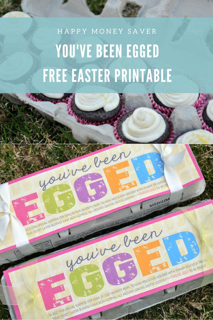 You've Been Egged | Free Easter Gift Printable from Happy Money Saver