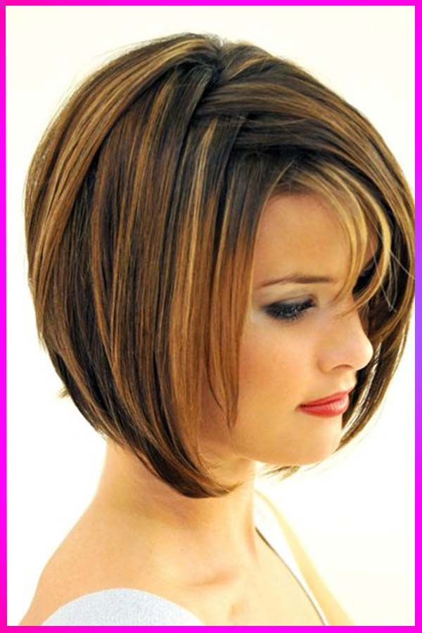Lovely Short Length Hairstyles And Hair Colors Ideas For Womens With Round Face In 2020 Bob Hairstyles With Bangs Bob Hairstyles Hair Styles