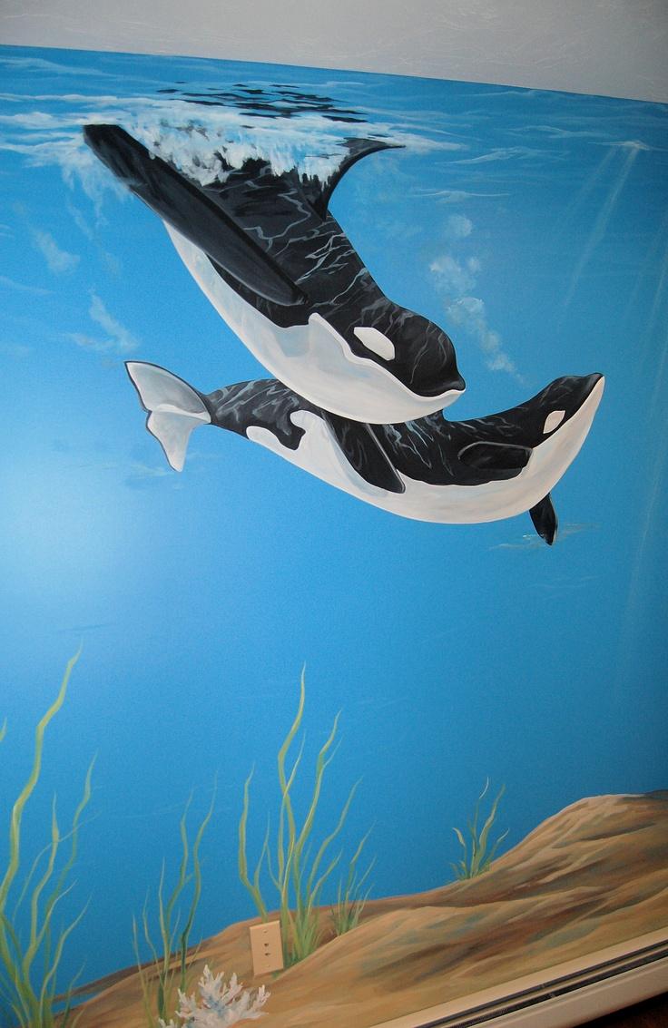 Ocean Mural in Kids room! Oh my Ree-Ree would LOVE this!
