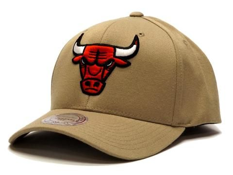 Mitchell & Ness Flex 110 Snapback Bulls - Khaki #Mitchellandness #Snapback #bulls #chicago #nba