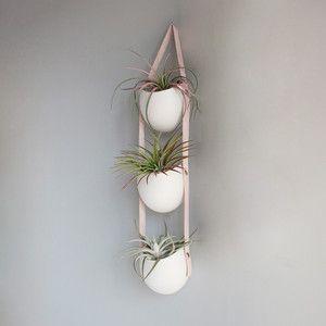 $106 Minimalist pot by Farrah Sit. on Fab.com. Dave is going to love this idea.Plants Art, Porcelain Planters, Farrah Sitting, Fab Com, Air Plants, Minimalist Gardens, Tiered Porcelain, Wall Gardens, Hanging Pots