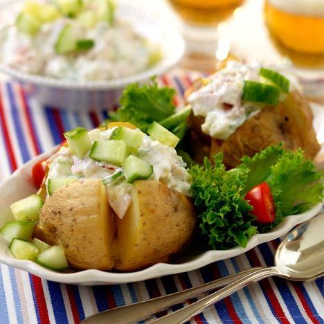 Bakad potatis med skinkröra