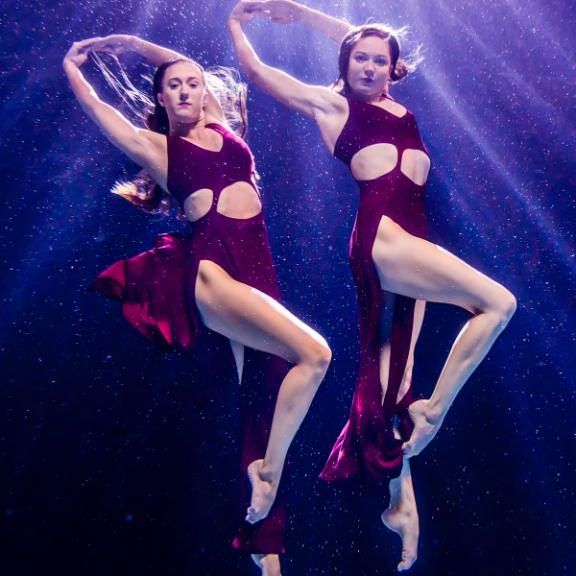 Feeling buoyant Olivia Federici (right) and Katie Clark, the British synchronised swimmers heading to the Rio Olympics, are caught in action by Simon Wright, an award winning photographer, for a series of pictures promoting Team GB's water sports squad.