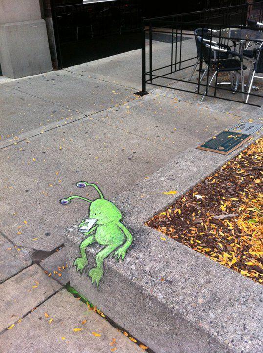 Best David Zinn Street Art Images On Pinterest Architecture - David zinns 3d chalk art adorably creative