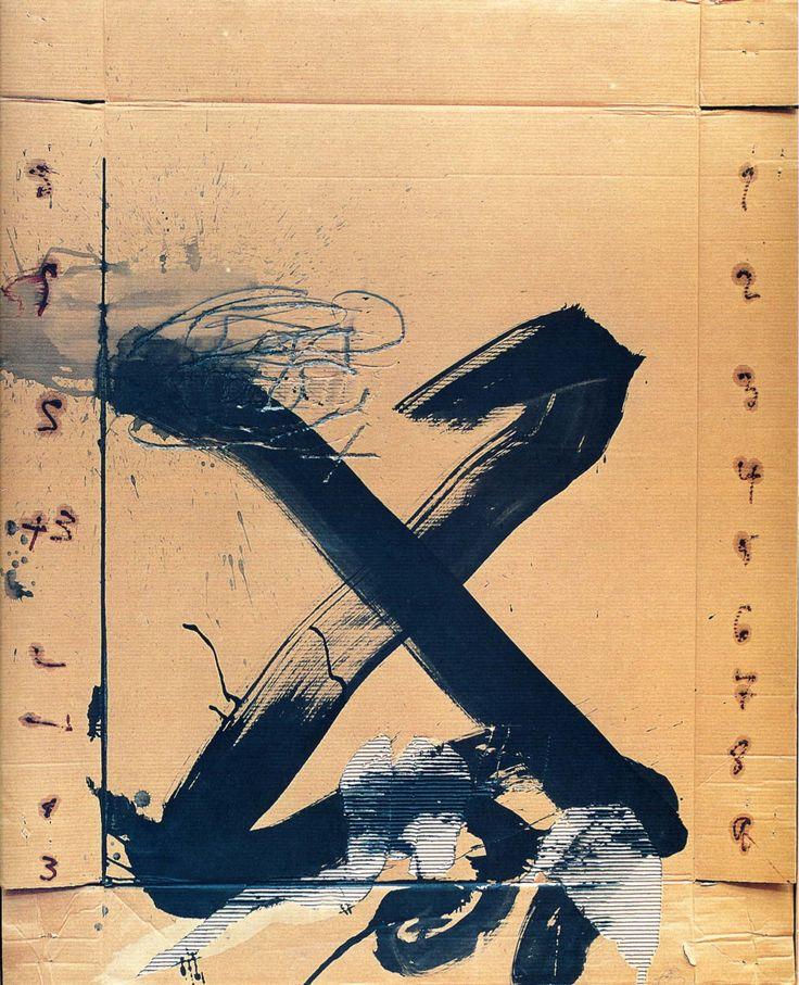 Antoni Tàpies, Gran X (1988). #type #alphabet