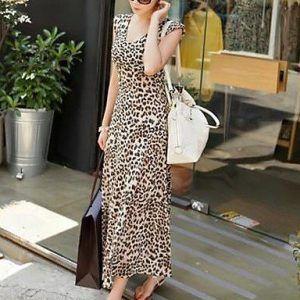 Vestido largo de leopardo, para las mujeres más elegantes.