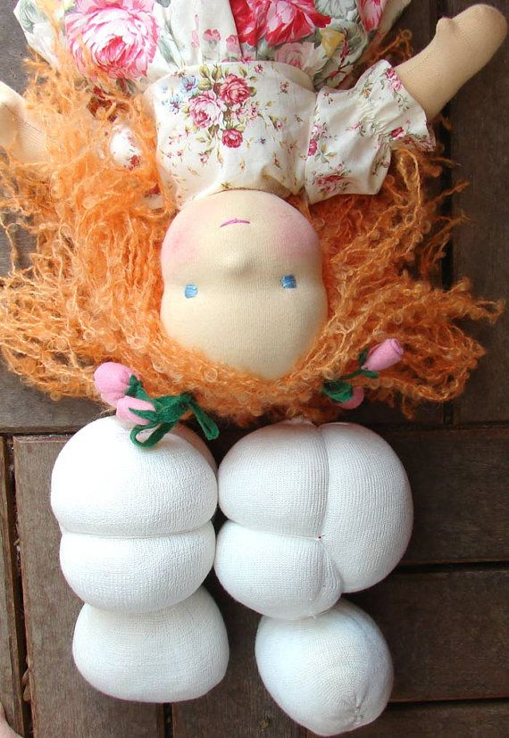 Pre Made Waldorf Doll Head for doll 20 - 40 cm 9 -16 in, waldorf dolls kit