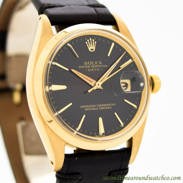 1965 Vintage Rolex Date Automatic Ref. 18k Rose Gold Watch