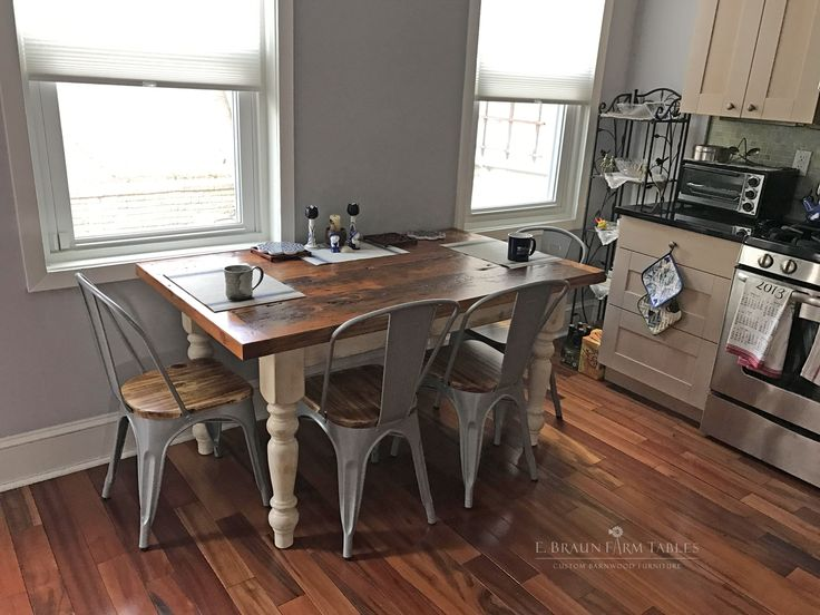farm table - reclaimed medium-high character (lots of texture!) yellow pine