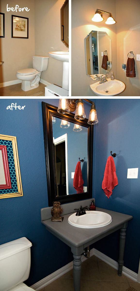 45 best bathrooms images on pinterest bathroom ideas bathrooms have you ever noticed how the diy and design shows on hgtv and diy network always show a before and after montage at the end solutioingenieria Image collections