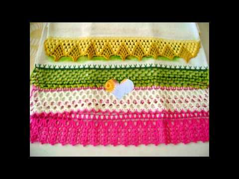 (2) Towel Lace Crochet Edge Patterns Models Designs New Trends HD
