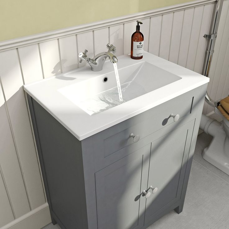 Click here to find out more about For a rustic, country look - whilst saving space and gaining storage - this beautiful unit and basin is the perfect compact s - £199