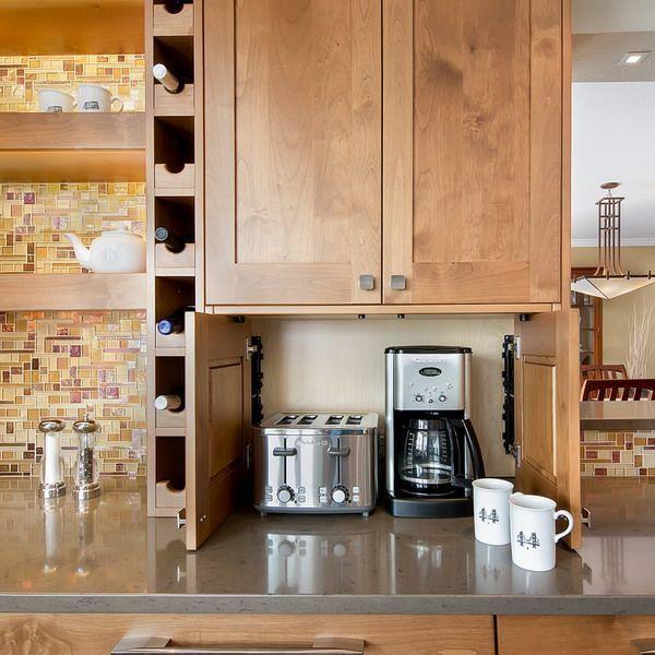 Kleine Kuchengerate Rationale Ideen In 2020 Small Kitchen Appliance Storage Kitchen Design Small Modular Kitchen Cabinets