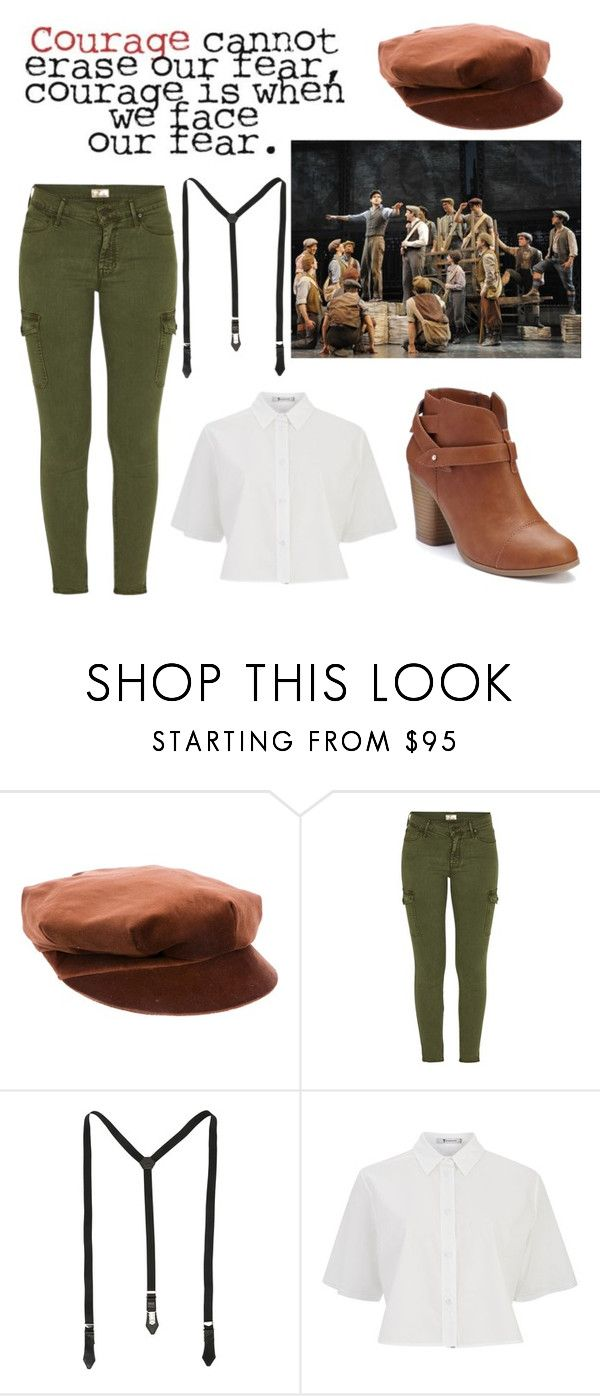 """""""Newsies"""" by ls-purplegirl ❤ liked on Polyvore featuring Burberry, Mother, Dsquared2, T By Alexander Wang and LC Lauren Conrad"""