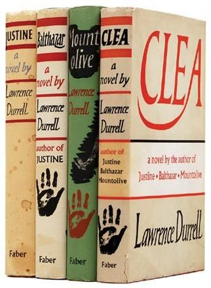 The Alexandria Quartet by Lawrence Durrell, 1957-60 first editions.