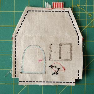 Fabric House Ornament Tutorial