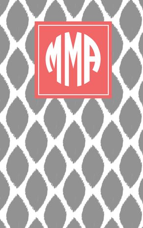 @May Designs love this new patterned notebook with my custom monogram by May Designs #mdpinit