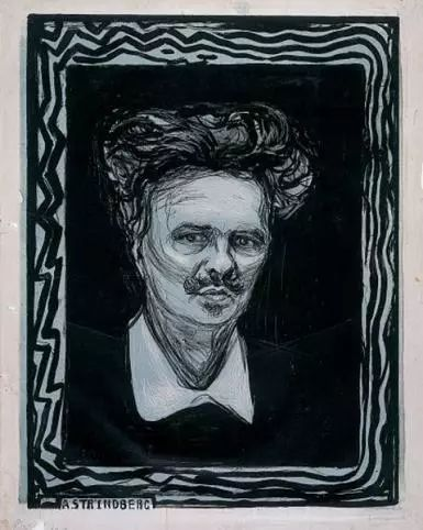 Edvard Munch: August Strindberg, 1896. Munchmuseet