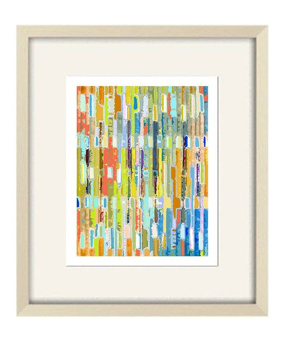 abstract art children's art orange bathroom art by OzscapeDesigns, $19.50