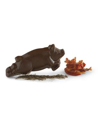 Vosges Mo's Dark and Milk Bacon and Chocolate Candy Bars and Library, Pancake Mix, Flying Pig, Bacon Eggs, Gifts - Flying Chocolate Pig