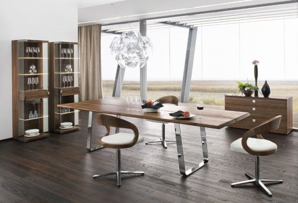 Beautiful sustainable furniture can look in any modern dining space. The Hope Suspension .