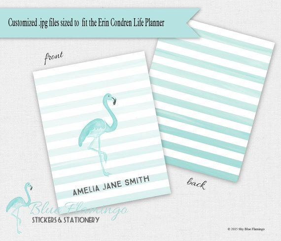 Blue Flamingo Planner Cover  Customizable by ShyBlueFlamingo