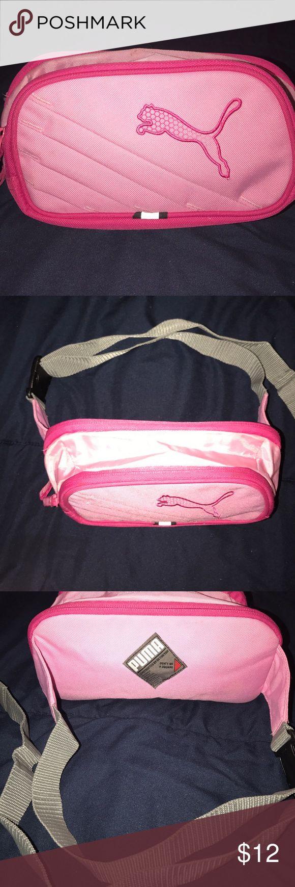 Pink Puma waist bag Pink puma sport waist bag with adjustable belt and snap. Puma Bags Travel Bags