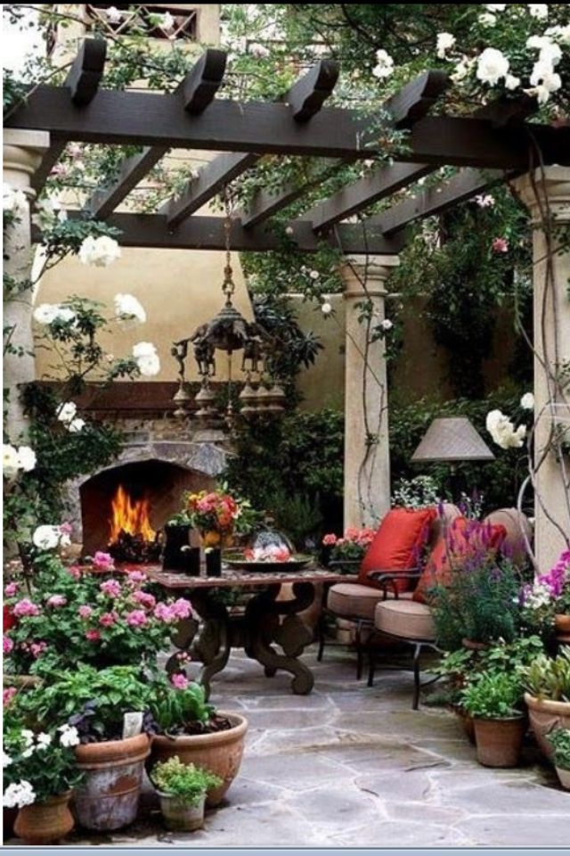 Outdoor Covered Patio With Fireplace Great Addition Idea Dream Dream Dream: This Has To Be One Of The Most Beautiful Pergolas Ever Designed