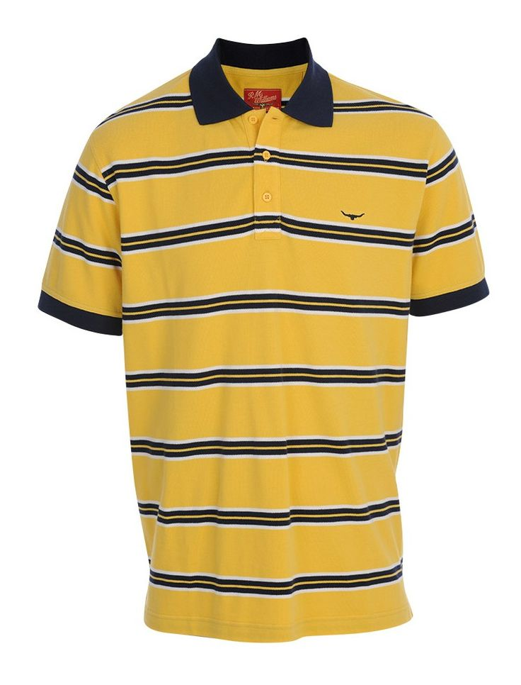 - RM WILLIAMS MENS DWYERS POLO YELLOW - The Top Saddlery & Bush Boutique, Katherine NT