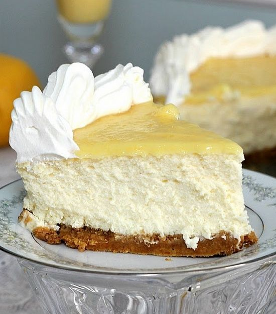 Triple-Lemon Cheesecake with lemon curd topping!! Delicious!