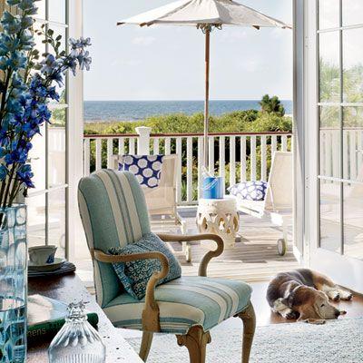 True Blue Beach Retreat. Elegant Living RoomCoastal Living ...