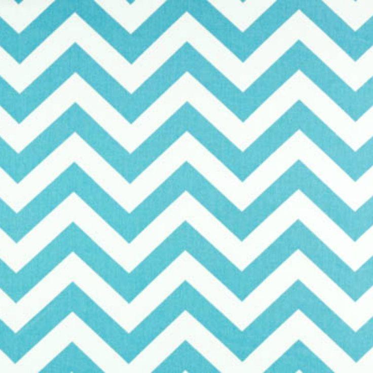 Premier Prints Fabric Zig Zag Chevron In Girly Blue Twill